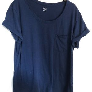 Navy Blue Pocket Tee Short Sleeve